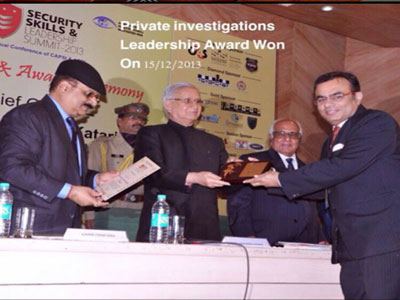 Awards 2013 Private Detective Agencies in Delhi